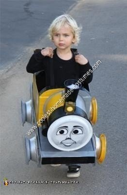 Homemade Bash and Dash Train Car Costume