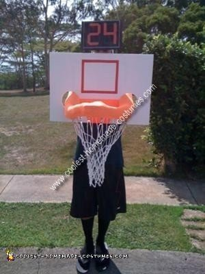 Homemade Basketball Hoop Costume
