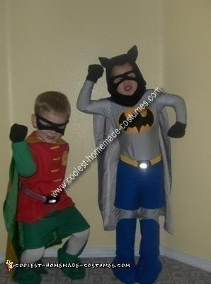 Homemade Batman and Robin Couple Costumes
