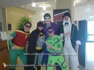 Homemade Batman Cast Group Costume