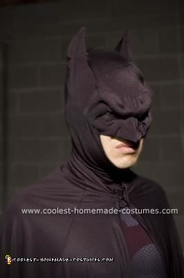 Close-up of Batman Cowl