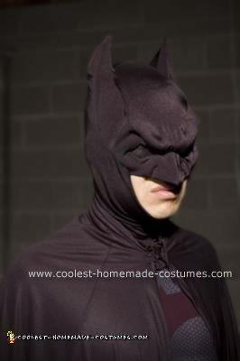 Close-up of Batman Cowl