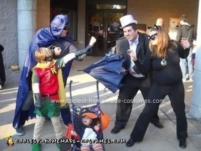 Chrs > SuperhHomemade Batman, Robin, Catwoman and Penguin Halloween Costumes