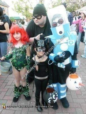Homemade Batman Villains Child Group Halloween Costumes
