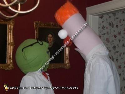 Homemade Beaker and Doctor Bunsen Couple Costume