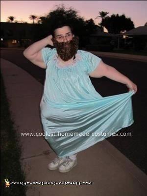 Homemade Bearded Lady Costume