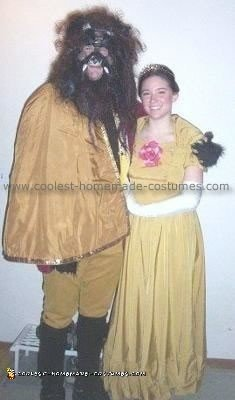 Homemade Beauty and the Beast Costume