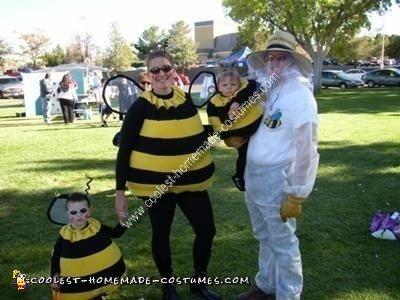 Homemade Bee Family Costume