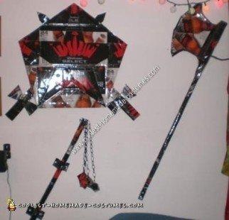 Homemade Beer Knight Halloween Costume Weapons
