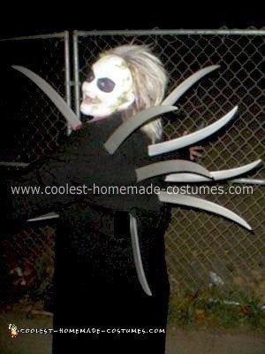 Homemade Beetlejuice Adult Costume