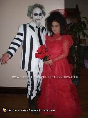 Homemade Beetlejuice and Lydia Costume