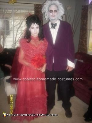 Homemade BeetleJuice and Lydia Costumes