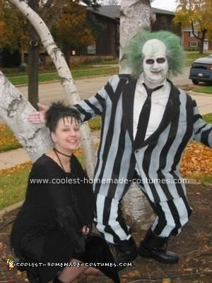 Coolest Homemade Beetlejuice And Lydia Couple Costume