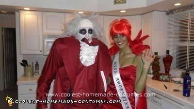 Homemade Beetlejuice and Miss Argentina DIY Halloween Costumes