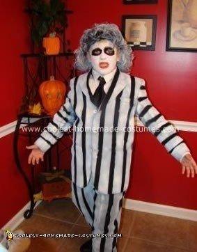 Homemade Beetlejuice Halloween Costume