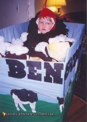 Homemade Ben and Jerry's Banana Split Wheelchair Costume