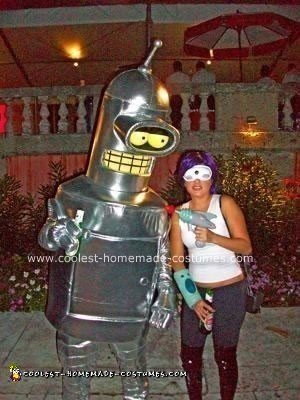 Homemade Bender and Leela from FUTURAMA Costumes