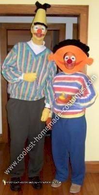 Homemade Bert and Ernie Costumes