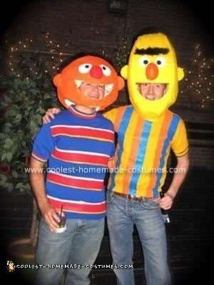 Homemade Bert and Ernie Couple Costume