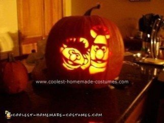 Homemade Bert, Ernie and Rubber Ducky Costume