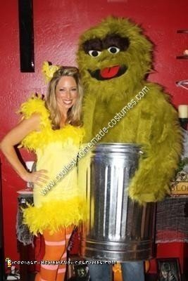 Homemade Homemade Big Bird and Oscar the Grouch Couple Halloween Costume Ideas