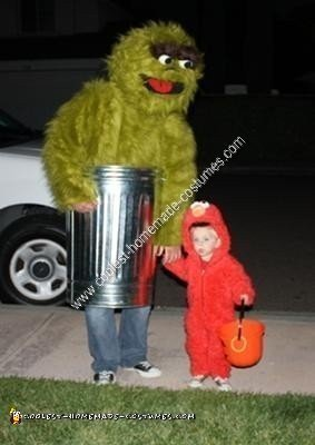 Homemade Homemade Big Bird and Oscar the Grouch Couple Halloween Costume Ideas