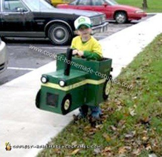 Homemade Big Green Tractor Costume