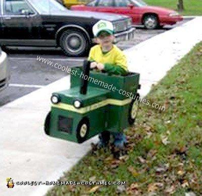 Homemade Big Green Tractor Costume