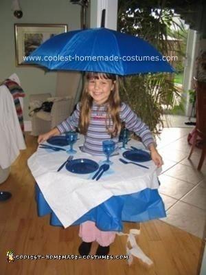 Homemade Bistro Table Costume