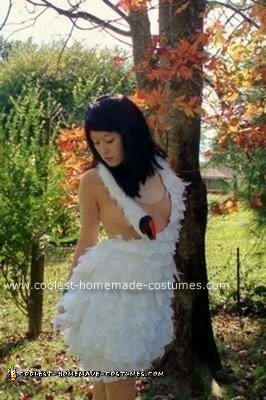 Homemade Bjork Swan Dress Costume