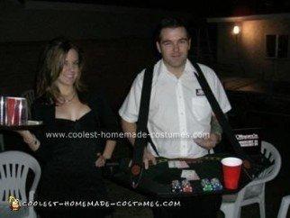 Homemade Black Jack Dealer and Cocktail Waitress Costumes