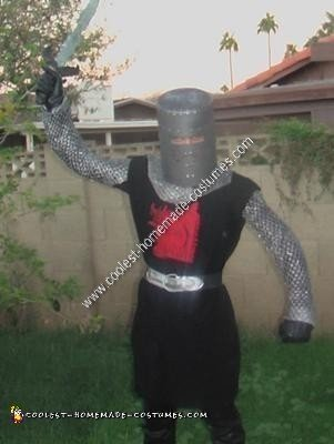 Homemade Black Knight Unique Halloween Costume Idea