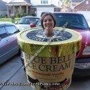 Homemade Blue Bell Ice Cream Costume