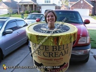 Homemade Blue Bell Ice Cream Costume