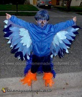 Homemade Blue Bird Halloween Costume