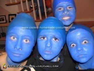 Homemade Blue Man Group Costume