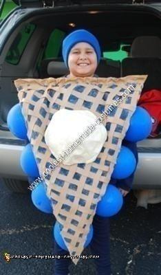 Homemade Blueberry Pie A La Mode Halloween Costume Idea