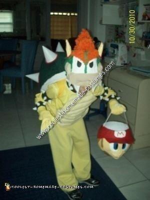 Homemade Bowser Halloween Costume Idea