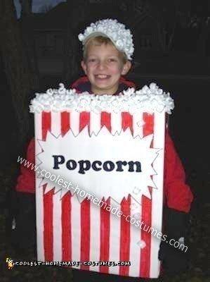 Homemade Box of Movie Popcorn Costume