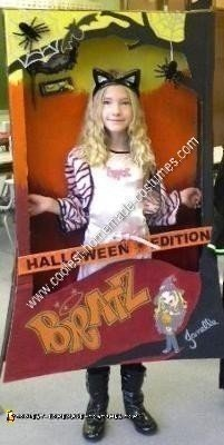 Homemade Bratz Doll in a Box Halloween Edition Doll Costume