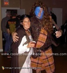 Braveheart and secret Bride with slit throat costume