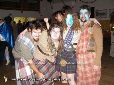 Homemade Bravehearts Army Group Costume