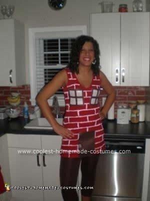 Homemade Brick House Costume