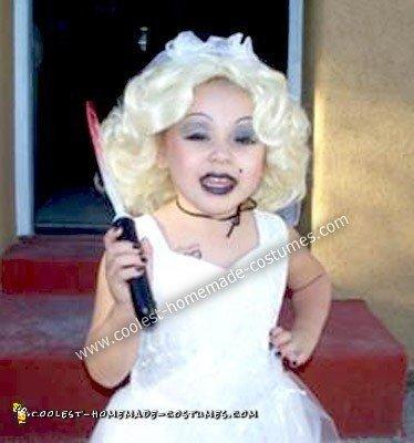 Homemade Bride of Chucky Child Costume