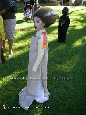 Homemade Bride of Frankenstein Costume