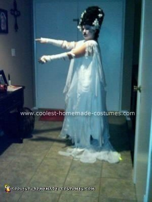Homemade Bride of Frankenstein Halloween Costume