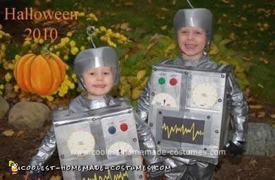 Homemade Bro-Bots Halloween Costumes