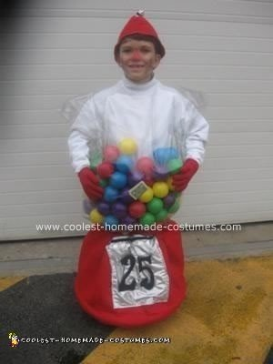 Homemade Bubble Gum Machine Halloween Costume