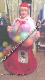 Homemade Bubblegum Machine Costume