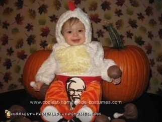 Homemade Bucket of Kentucky Fried Chicken Baby Costume